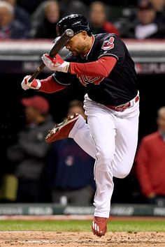 Coco Crisp of the Cleveland Indians gets out of the way of a pitch during the second inning against the Chicago Cubs in Game Two of the 2016 World...