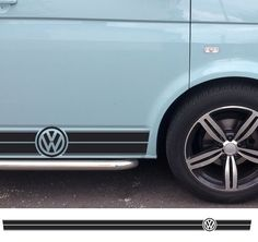 VW Sticker Decals and Stripes for and other vehicles - Lovely Graphic Designs by Beatnik Decals UK! Vw California Camper, T6 California, Kombi Trailer, Volkswagen Transporter T4, Vw Logo, Car Paint Colors, Look Retro, Van Interior, Remodeled Campers