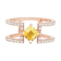 Genuine Citrine Fashion Ring by Bellissima Collection | www.PrincessJewelry.com