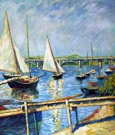 Gustave Caillebotte, Voiliers à Argenteuil, 1888, painting