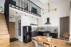 Decorando com a Si : Cozinhas gostosas Apartment Kitchen, Apartment Interior, Apartment Design, White Apartment, Apartment Ideas, Steel Balustrade, Green Accent Walls, Oak Stairs, Grey Countertops