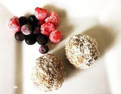 Caramel Protein balls, visit www.vkatz.com for recipe