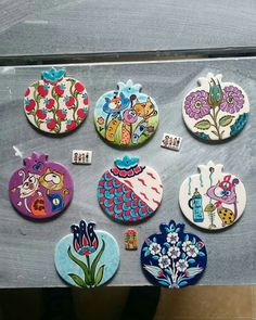 Çini nar, Otantik Çini Slab Pottery, Ceramic Pottery, Pottery Art, Ceramic Art, Turkish Design, Turkish Art, Turkish Tiles, Tile Art, Mosaic Art
