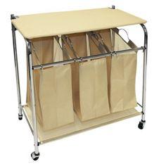 $44.99 Online Price Target Home Triple Sorter Laundry Hamper Buff Beige