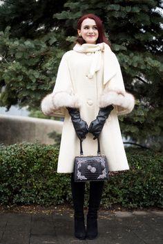 The fabulous Lilli Ann – Andreea Balaban Retro Fashion, Vintage Fashion, Cold Weather Fashion, Dress Codes, Stuart Weitzman, Winter Outfits, Fashion Outfits, Fashion Ideas, Fur Coat