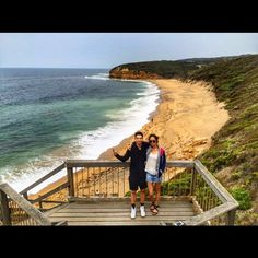 With @standaman827 at #Bells Beach today!  #reunion #daytripping #summer #greatoceanroad #australian #coast  by natalia_kko