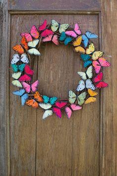 Spring Wreath Butterfly Wreath Butterfly Summer Wreath