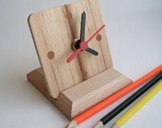 Holz Lampe / Tischlampe / Tischleuchte / rote Lampe/Geschenk