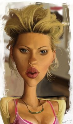 Who's this celebrity? Scarlett Johansen #caricature