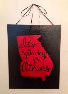 It's Saturday in Athens 11x14 Wall Decor by SouthernHomeRemedies, $18.00