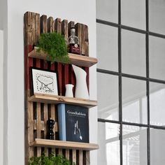 Magazine rack made from scaffolding