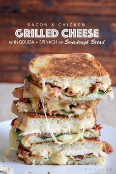 AMAZING Chicken and Bacon Grilled Cheese Sandwich Recipe