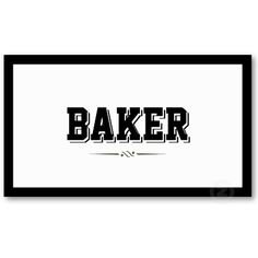 Modern Bold Border Baker Business Card