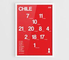 Chile Copa America 2015 Football team squad by NazarDes on Etsy Gary Medel  Claudio Bravo  La Roja  Home decor  Alexis Sanchez Arturo Vidal  Jorge Valdivia  Mauricio Isla  Eduardo Vargas  Copa America  FIFA World Cup