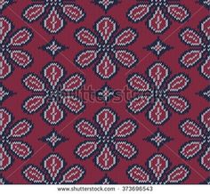 Knitted background in Fair Isle style in three colors. Seamless sweater pattern. Vector illustration.