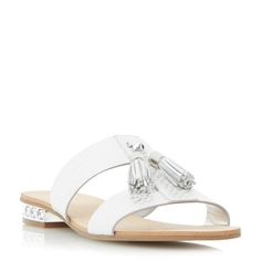 73ff8fe0e92f Dune Newberry tassel detail heel sandals
