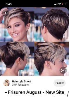 Shaved Side Hairstyles, Short Hairstyles Fine, Hairstyles Haircuts, New Mom Hair, Short Fine Hair Cuts, Short Hair Trends, Pelo Pixie, Edgy Hair, Alternative Hair