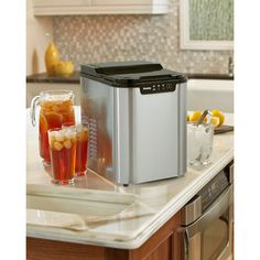 Danby Stainless Steel Portable Ice Maker for Kitchen Countertop