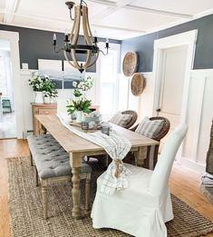 Cottage Dining Rooms, Dining Room Table Decor, Dining Room Design, Small Dining Rooms, Dining Room In Kitchen, Narrow Dining Room Table, Dinning Room Ideas, Dining Area, Best Dining Room Colors