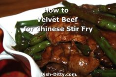 Chinese Restaurant's have the softest most tender beef you will find. What's the secret? They use a process called 'Velveting' to tenderize the meat before they cook it in their stir fry dishes. There are several methods available, I've introduced the cornstarch/par-boil method in my 'How to Velvet Chicken' post. I have been experimenting ...