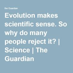 Evolution makes scientific sense. So why do many people reject it? | Science | The Guardian