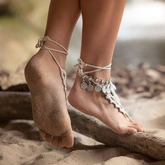 Shop the latest looks and trends at the lowest prices in boho style jewelry. Boho Beach Hut carries bracelets, necklaces, anklets, rings, and more! Coin Bracelet, Anklet Bracelet, Jewelry Bracelets, Jewelry Watches, Tassel Jewelry, Statement Jewelry, Silver Bracelets, Gypsy Style, Boho Gypsy
