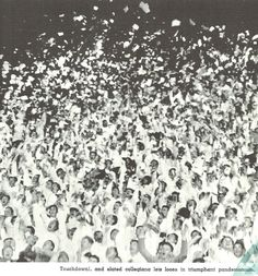 Oregon fans celebrate a touchdown at Hayward Field in 1935.  From the 1936 Oregana (University of Oregon yearbook).  www.CampusAttic.com