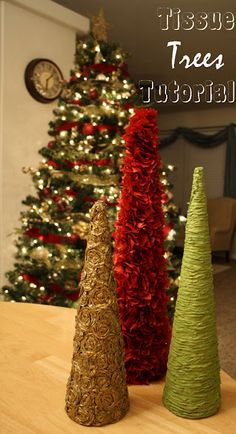 Tissue Christmas Trees