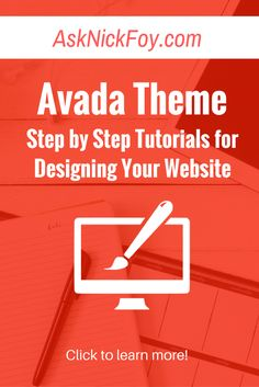How to use the avada theme for beginners. Click to watch me purchase, install, and design a webpage using Avada as my wordpress theme. (blogging tips for beginners, online business lessons new bloggers, pinterest traffic tips, email list growth, email list tips, website design ideas, website design templates, affiliate marketing tips, selling digital products, blogger resources, website traffic tips, blogging mistakes to avoid)