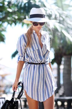 Sirma Markova: Beach Stripes & Messy Hair