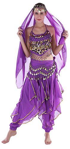 Jeannie Kostüm Damen Erwachsene Faschings-Kostüm Indische Bauchtänzerin Kostüme Lila Mottoparty karneval kostüm gruppe kostüm karneval verkleidung fasching basteln faschingskostüm bekleidung mode fasching