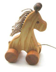 Pull Along Toys - Giraffe- Handmade