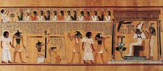 Image result for book of the dead spell 125 hieroglyphs