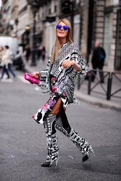 wow. AdR that is a hell of an outfit. Paris. #AnnaDelloRusso #WayneTippetts