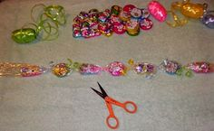 Candy Necklaces. Made these for Valentine's Day and used Jolly Ranchers instead of chocolate...everyone loved them!