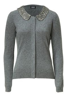 STEFFEN SCHRAUT  Soft Flannel Embellished Collar Cardigan