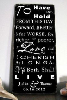 wedding vows sign... LOVE