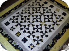 ProsperityStuff Quilts: Kaleidoscopes in Navy