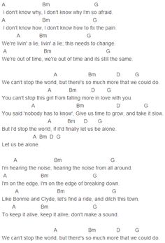 Map Of The World Chords Demi Lovato - Stop the World Chords Capo 4