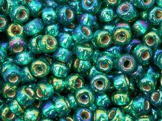 Miyuki 80 Round Seed Beads Silver Lined Emerald Ab 22g Tube Miyuki Code 1017