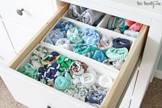 How To Easily Organize Everything In Your Closet (For Cheap) is part of Nursery dresser - How To Easily Organize Everything In Your Closet (For Cheap) NurseryOrganization Hemnes Nursery Dresser Organization, Small Bedroom Organization, Closet Organization, Organized Bedroom, Clothing Organization, Nursery Storage, Bedroom Storage, Bric À Brac, Drawer Organisers