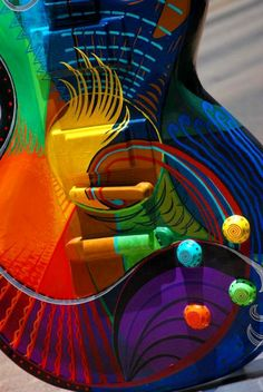 Colors of the rainbow guitar.