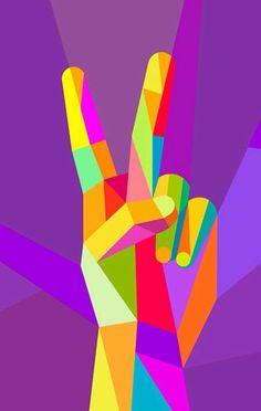 Amor y paz en colores