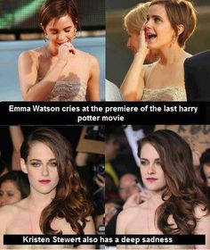 Emma Watson has more of a soul. Harry potter VS twilight emotions.