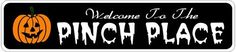 PINCH PLACE Lastname Halloween Sign - 6 x 24 Inches by The Lizton Sign Shop. $34.95. Aluminum Brand New Sign. Predrillied for Hanging. Rounded Corners. Great Gift Idea. 6 x 24 Inches. PINCH PLACE Lastname Halloween Sign 6 x 24 Inches - Aluminum personalized brand new sign for your Autumn and Halloween Decor. Made of aluminum and high quality lettering and graphics. Made to last for years outdoors and the sign makes an excellent decor piece for indoors. Great fo...