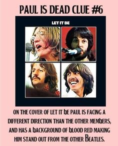 Paul is dead clue #6.