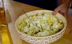 Salada de batata com maionese caseira: receita é do apresentador Rodrigo Hilbert.
