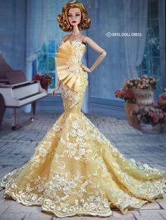 Barbie dolls evening gowns  / eifel 85  / 12.34.5