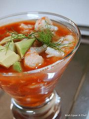 Wish Upon A Chef: Seaside Tomato Gazpacho.  Great way to use up the last of the tomato bounty from the garden.