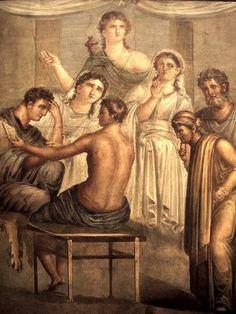 Alcesti e Admeto (affresco pompeiano) - da: Apollo servo di Admeto /1